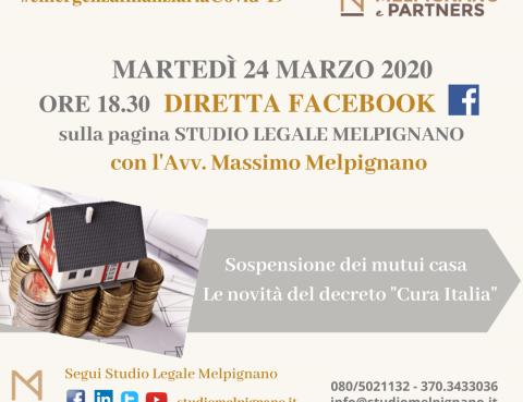 cura italia mutui